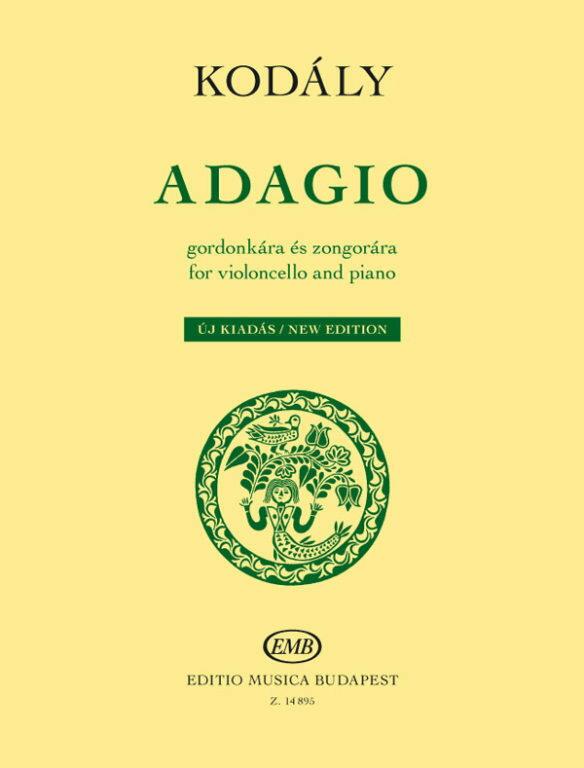 【輸入楽譜】コダーイ, Zoltan: アダージョ: チェロとピアノのための: Pedagogical Performance Pieces画像