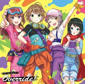 【楽天ブックス限定先着特典】CUE! Team Single 08「Override!」 (L判ブロマイド【絵柄:ゲームイラスト】)