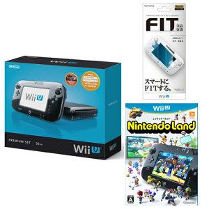 【送料無料】Wii U プレミアムセット + スクリーンガードフィット for Wii U GamePad TYPE-A ...