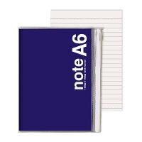 キュービックス ノート カバー付 A6 ネイビー 114101-08