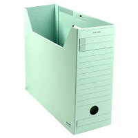 コクヨ ファイルボックス 色厚板紙 フタ付き A4 緑 A4-LFFN-GZ