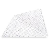 ステッドラー 三角定規 製図 セット レイアウト用 30cm 966 30
