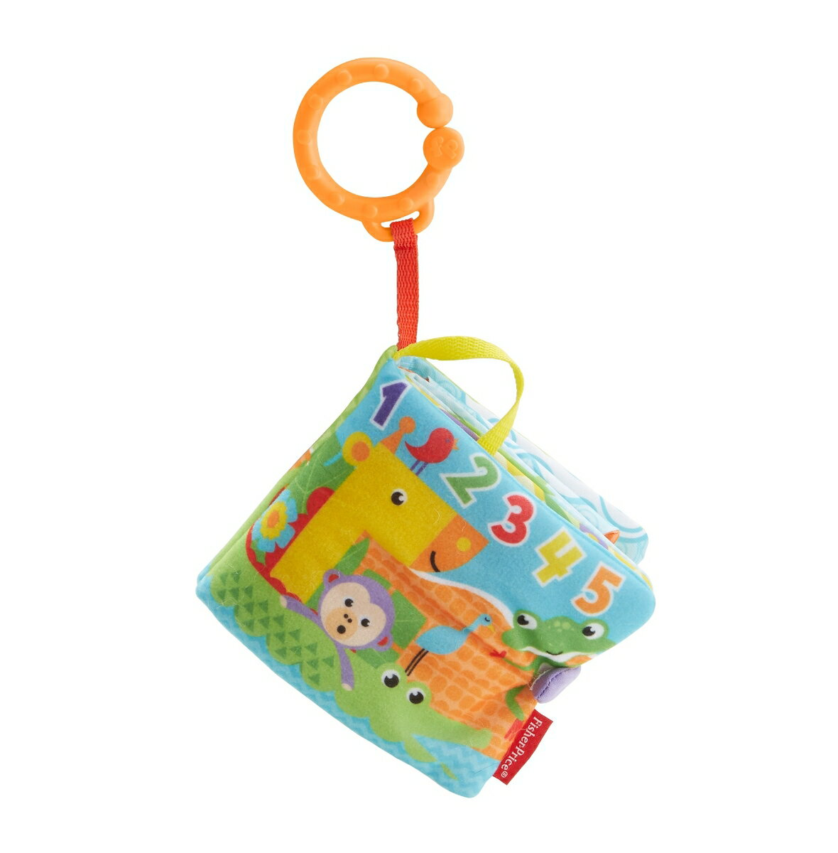 フィッシャープライス シグニチャーシリーズ おでかけ布えほん 赤ちゃん 幼児 布のおもちゃ 指遊び 歯がため ベビーカー用おもちゃ FGJ40