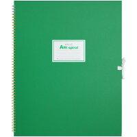 マルマン スケッチブック アートスパイラル F6 厚口画用紙 24枚 グリーン S316-33