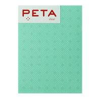 PCM竹尾 付箋 PETA L 透ける付箋 20枚 グリーンクロスライン 1736366