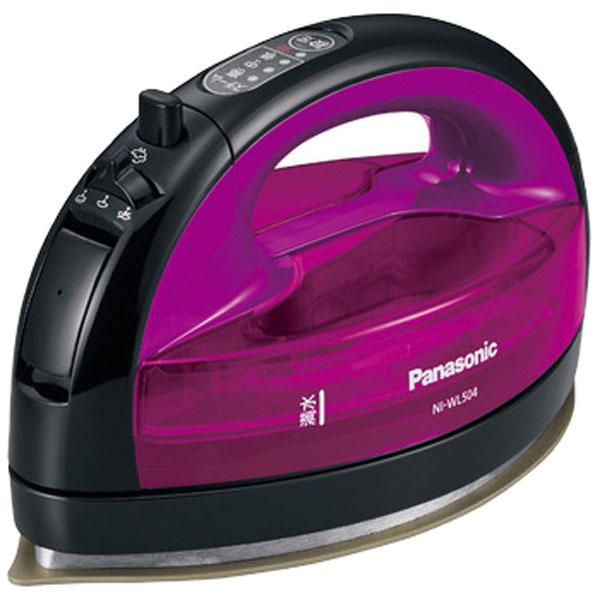 Panasonic コードレススチームアイロン (バイオレット) NI-WL504-V