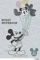 ディズニーキャラクター MUSIC NOTEBOOK 10段 (5冊セット)