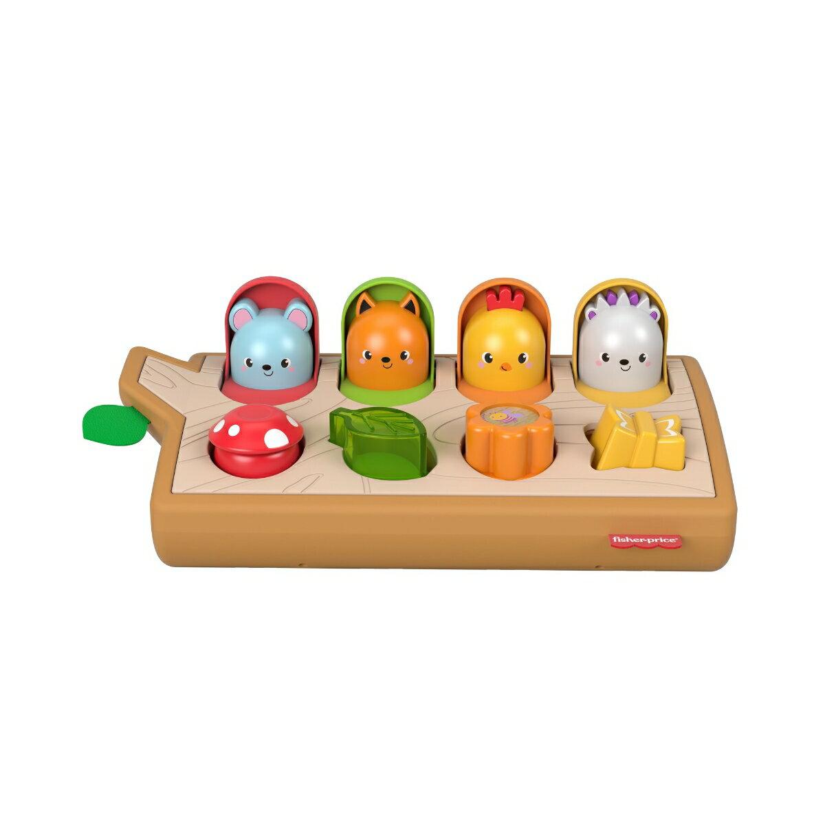 フィッシャープライス 感覚を育てよう!ボタンでアクションぴょっこりどうぶつ 【9カ月~ 知育玩具 】【BPA、フタル酸エステル類不使用】 GWB85