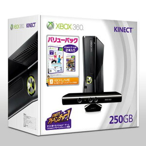 【送料無料】Xbox 360 250GB + Kinect バリューパック