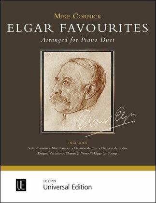 【輸入楽譜】エルガー, Edward: ピアノ連弾のためのエルガー作品集ー/Cornick編曲画像