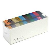 カモ井加工紙 マスキングテープ mt 10色セット 15mm幅×10m巻き 渋い色2 MT10P0004