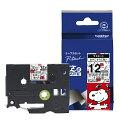 【ブラザー純正】ピータッチ ラミネートテープ TZe-SW31 幅12mm (黒文字/スヌーピーホワイト)