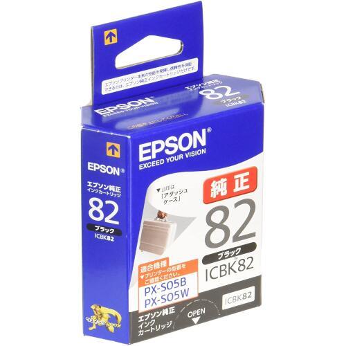 ICBK82 モバイルプリンター用 インクカートリッジ(ブラック)