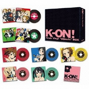 """【送料無料】【ポイント2倍アニメキッズ】K-ON! 7inch Vinyl""""Donuts""""BOX(数量限定商品 ア..."""