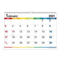 エトランジェ カレンダー 2021年 壁掛け B3 数字 CLE-B3-02