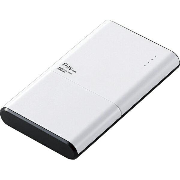 エレコム モバイルバッテリー/リチウムイオン電池/薄型/おまかせ充電対応/Type-C対応/Pile one/6000mAh/3.0A/PSE適合/ホワイト DE-M07-N6030WH