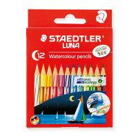 ステッドラー 水彩色鉛筆 ルナ 12色セット ショートタイプ 1371001C12
