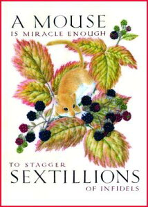 Marie Angel Mouse and Berries Inspirational Greeting Card MARIE ANGEL MOUSE & BERRIES (6 (Inspiration) [ Marie Angel ]
