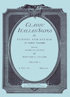 【輸入楽譜】CLASSIC ITALIAN SONGS VOL.1(MED HIGH)/GLENN/TAYLOR