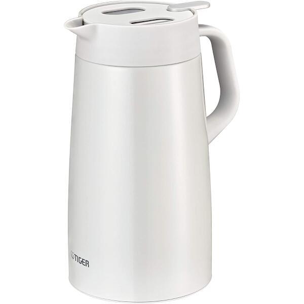 タイガー魔法瓶 ステンレスポット プッシュレバータイプ 1.6L ホワイト PWO-A160W