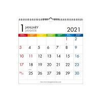 エトランジェ カレンダー 2021年 壁掛け LP 数字 CLS-A-12
