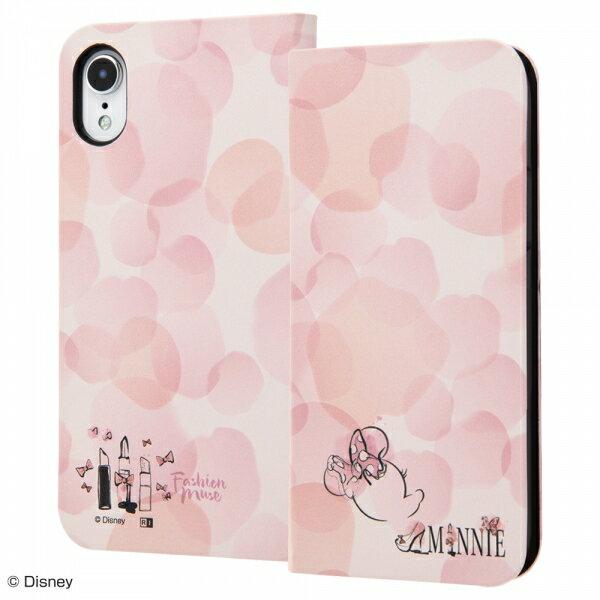 iPhone XR 手帳型アートケース マグネット スリム ミニーマウス_016