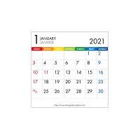 エトランジェ カレンダー 2021年 卓上 CD 数字 CLS-CD-12