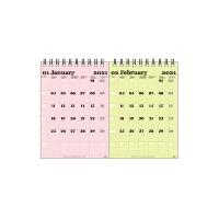 エトランジェ カレンダー 2021年 卓上 B6 数字 CLT-H-05