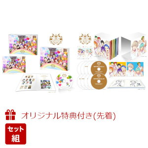 """【セット組】【楽天ブックス限定先着特典+先着特典】KING OF PRISM ALL SERIES Blu-ray Disc """"Dream Goes On!""""【Blu-ray】+KING OF PRISM BEST ALBUM""""Music Goes On!""""(トートバッグ+クリアファイル+特典CD)"""