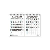 エトランジェ カレンダー 2021年 卓上 B6 数字 CLT-H-06