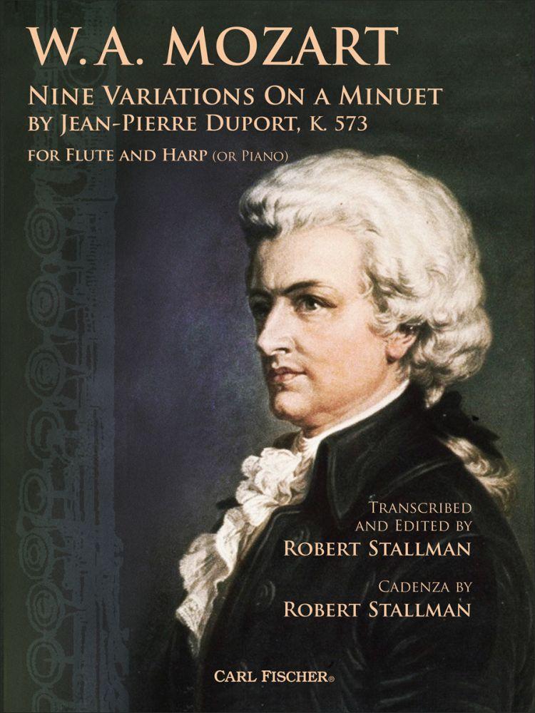 【輸入楽譜】モーツァルト, Wolfgang Amadeus: デュポールのメヌエットによる9つの変奏曲 ニ長調 KV 573/フルートとハープ(またはピアノ)用編曲/Stallman編画像