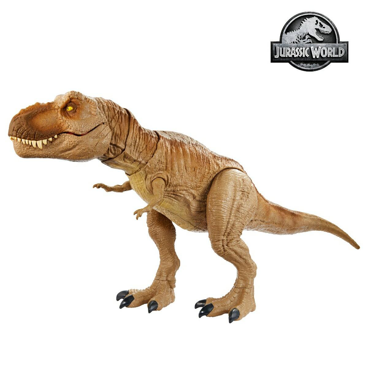 ジュラシック・ワールド スーパーアクション!T-レックス【サバイバル・キャンプ地図、恐竜ステッカー付】【全長:約55cm】 GJT60