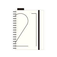 エトランジェ 手帳 2021年 マンスリーダイアリー A6 アイボリー (2020年12月始まり) DMA61-C1-21