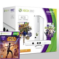 【送料無料】Xbox 360 4GB+Kinect スペシャルエディション (ピュアホワイト) + Kinect スター...