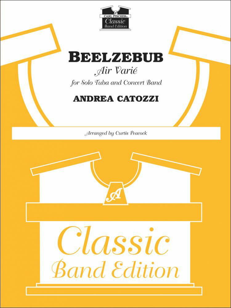 """【輸入楽譜】カトッツィ, Andrea: ベルゼブブ - """"Air Varie"""" 〜チューバと吹奏楽のための/ピーコック編曲: スコアとパート譜セット画像"""