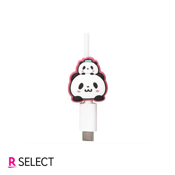 【ポイント10倍】お買いものパンダ ケーブルマスコット(ピンク)
