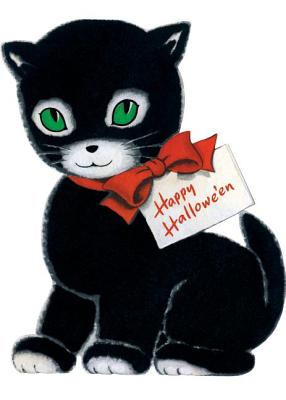 Happy Halloween Black Cat Halloween Greeting Card [With Envelope]画像