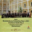 バッハ:ブランデンブルク協奏曲1・2・4番|管弦楽組曲第2番 [ ニコラウス・アーノンクール ]