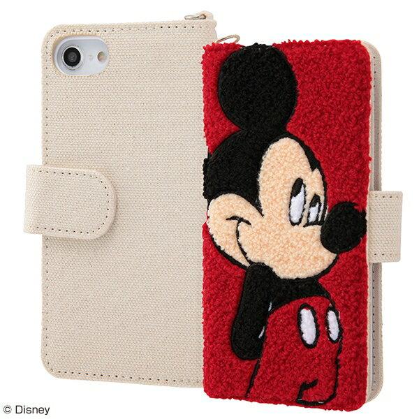 iPhone 8/7/6s/6 手帳型ケース サガラ刺繍 ミッキーマウス