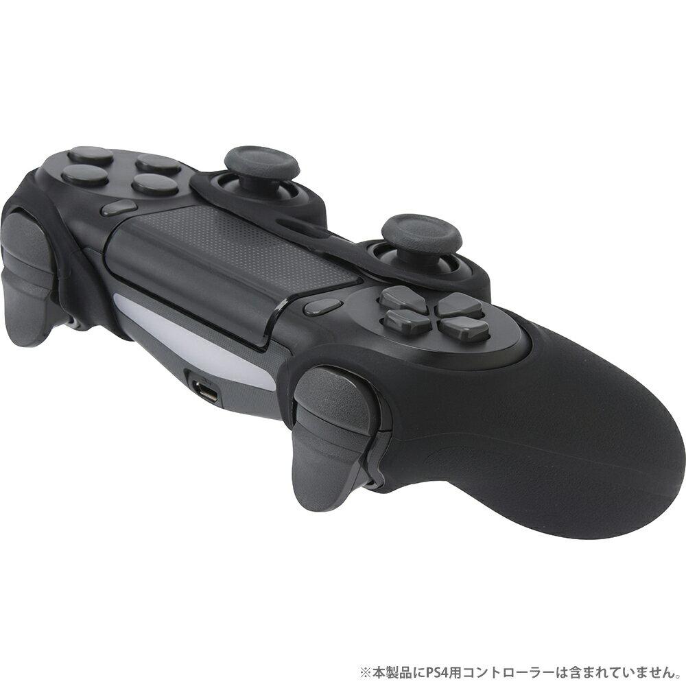 CYBER・コントローラーシリコンカバー HIGH GRIP2(PS4用)・ブラック