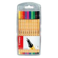 STABILO ファイバーチップペン point88 10色セット