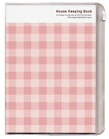 キュービックス かんたん 家計簿 チェック ピンク 200698-06