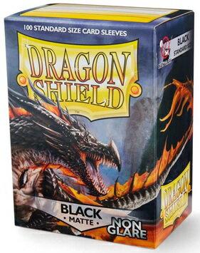 AT-11802 ドラゴンシールド マット スタンダードサイズ ノングレア ブラック(100枚入り)