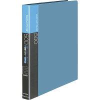 コクヨ ファイル 名刺ホルダー 替紙式 A4 30穴 500名収容 青 メイーF355NB