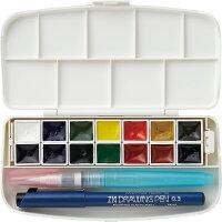 呉竹 絵の具セット 透明水彩セット フィス KG301-1 14色セット