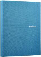 セキセイ アルバム ポケット ハーパーハウス レミニッセンス ミニポケットアルバム Lサイズ 80枚収容 布 ブルー XP-80M