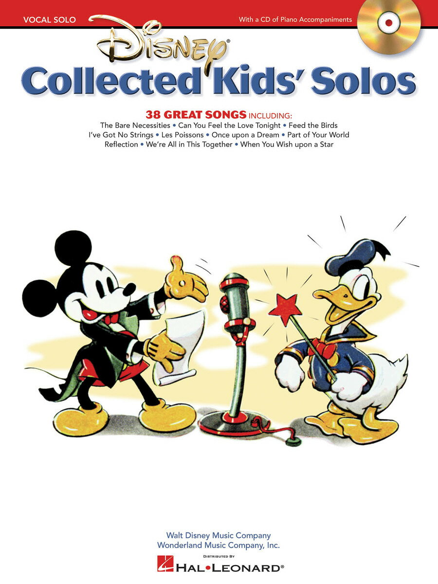 【輸入楽譜】Disney: Collected Kids' Solos-38 Great Songs(CD付)画像