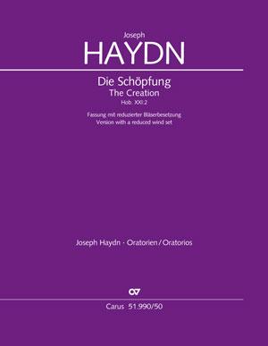 【輸入楽譜】ハイドン, Franz Joseph: オラトリオ「天地創造」 Hob.XXI/2/管楽器編成縮小版/Gersthofer編/Hickman編曲: 指揮者用大型スコア画像
