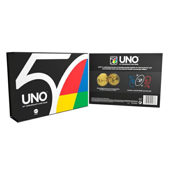 ウノ(UNO) 50周年 プレミアムエディション 【限定カード ワイルド50/50カード、記念ゴールドコイン】 GXJ94