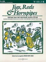 【輸入楽譜】ジグ、リール、ホーンパイプ曲集(改訂新版)(1本または2本のバイオリン, アドリブ・ギター譜付)/Huws Jones編(CD付)